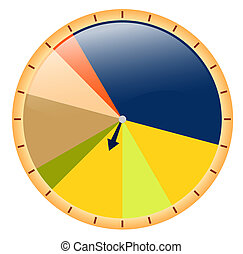 Elevated Pie Chart - colored pie chart with different...