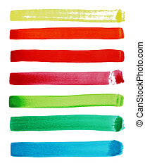 abstract watercolor striped collection, set brush for your desig