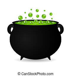 cauldron witches potion for Hallowe - black cauldron witches...