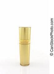 Cosmetics bottle, Golden Blank packaging bottle - Cosmetics...