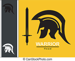 sword and sparta centurion - Sparta warrior head and sword...