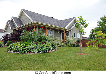 Country style house - Picture of a typical North American...