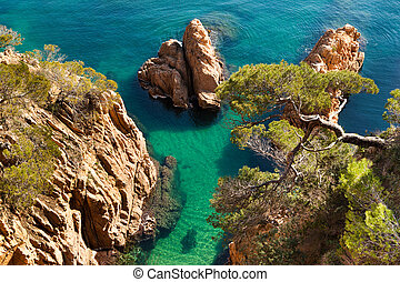 "Costa Brava - View of Costa Brava from ""Camí de Ronda"" a..."