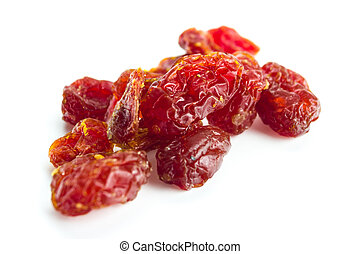 sun-dried tomatoes - sun-dried sweet tomatoes on white...