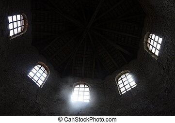 Euphrasian basilica in Porec, Croatia - Windows inside...