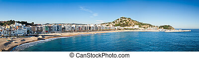 Panorama of Blanes