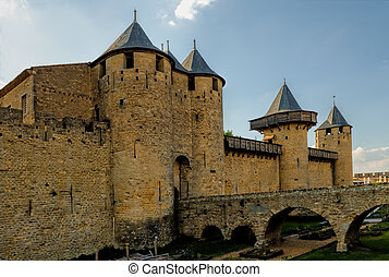 the ramparts of Carcassone