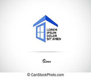 House Icon - House Abstract Real Estate Countryside Logo...