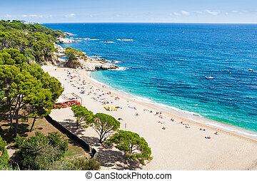 Costa Brava seaside - Aerial view of the Costa Brava seaside...
