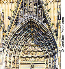 decoration elements at the main gate of the dome in Cologne,...