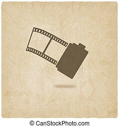 camera film roll old background - vector illustration. eps...
