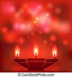 oil lamp blurred background - vector illustration eps 10
