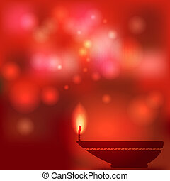 oil lamp blurred background