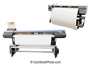 printing machine - Digital printing machine under the white...