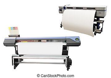 printing machine - Digital printing machine under the white...