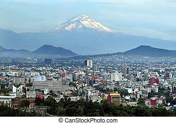 Mexico City Landscape - MEXICO CITY - MAR 01 2010:Aerial...