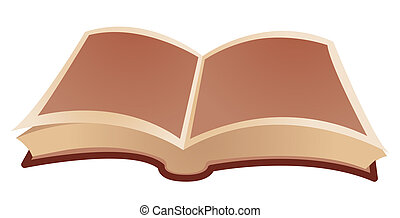 open book isolate on a white background