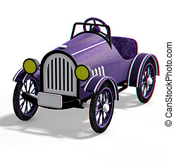 oldtimer car - This is an anaglyph image / stereo rendering...