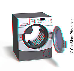 machine - This is an anaglyph image stereo rendering of a...