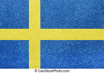 ensign sweden - the ensign of sweden made of twinkling...