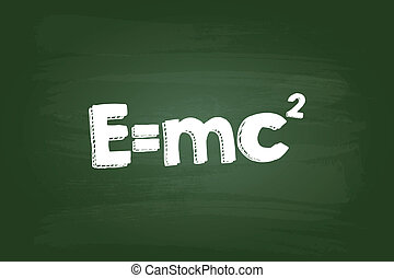 Einstein Theory Of Relativity Formula On Green Board