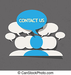 Contact Us! Vector