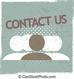 Contact Us Group Vector Background