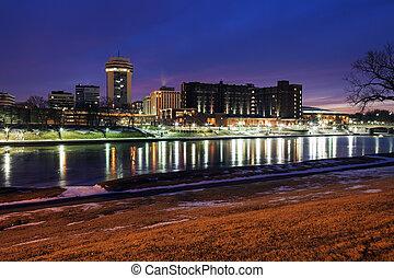 Wichita, Kansas - downtown - Wichita, Kansas - downtown seen...