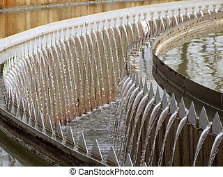 wastewater - Cleaning construction pool for sewage treatment
