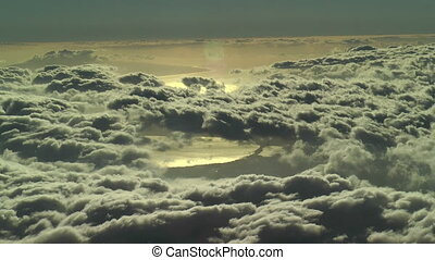 over the clouds time lapse shot from haleakala summit east...