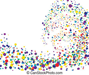 colorful background - Colourful circles background on sea...