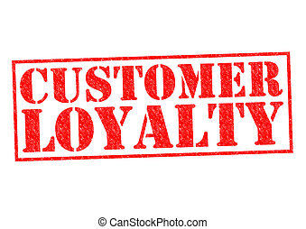 CUSTOMER LOYALTY red Rubber Stamp over a white background