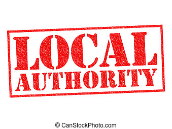 LOCAL AUTHORITY red Rubber Stamp over a white background