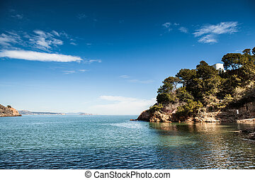 Costa Brava pathway - View of this Costa Brava landscape in...