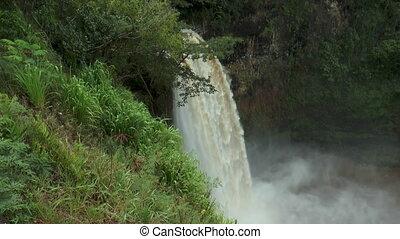 Total view of wailua waterfall on Kauai - total view of...