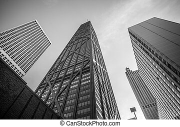 Hancock building in Chicago, Illinois, USA - John Hancock...