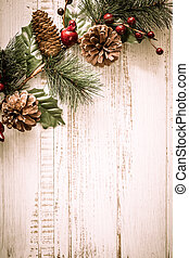 Christmas decorations - Christmas background with fir...