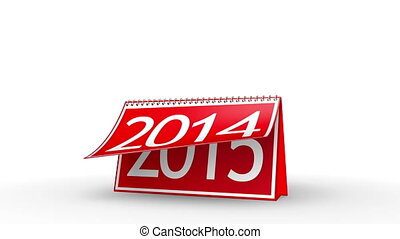 New Year 2015 Calendar (with Matte) - Calendar turning page...