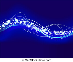 glowing water waves - Abstract water vector background with...