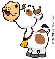 Cow - Vector illustration of Cartoon Cow