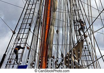 Sail ship mast