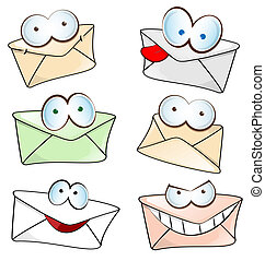 funny mail cartoon set