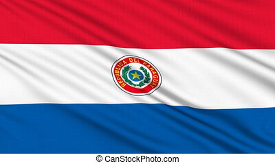 Paraguay flag, with real structure of a fabric
