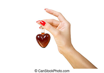 elixir of Love love spell - female hand holding elixir of...