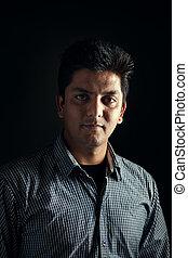 Indian handsome man smiling
