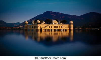 A beautiful view of jal mahal in Ja - A beautiful view of...