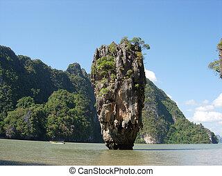 isla, Tailandia, Phuket, James, bono, isla, geología,...