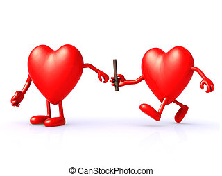relay between hearts, the concept of organ donation or...