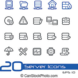 Server Icons // Line Series - Vector Icons for your website...