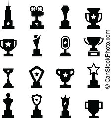 Trophy Icon set for your design